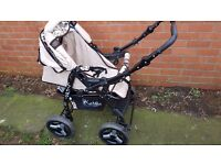 Push chair + moses basket + car seat + accesories
