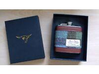 Brand New Harris Tweed hip flask - make great Xmas present!
