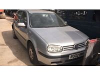 2002 Volkswagen Golf 5dr 1.6 Petrol Silver BREAKING FOR SPARES