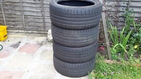 Summer tyres 2 Dunlop and 2 kumho 255/40 19