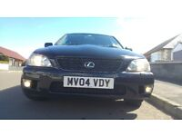 LexusIS200 3 keyes, new belt and full service including a years MOT 74t miles!Genuine original cond.