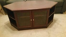 TV unit with glass front