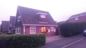 Two bedroomed chalet style detached house in Trentham, Stoke on Trent.
