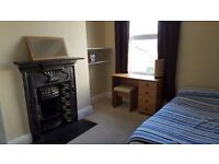 Short term let available on double room within three bed house. Use of all facilities.