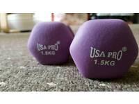 Dumbells USA Pro 1.5Kg 2x