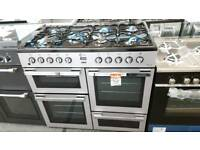 New graded Flavel 100cm dual fuel range cooker with 12 months guarantee