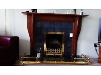 6 ball extendable solid brass fire surround