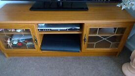 wood effect television stand