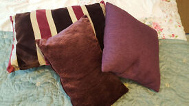 Purple Cushions - £4 each or all 3 for £10