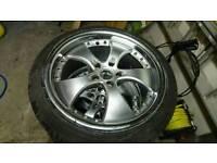 Alloy wheels off a mercedes vito