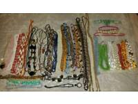 NECKLACES x 35 APPROX. COSTUME BITS ALSO