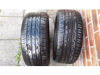 4 x 235/45/R17 tyres, 2xEVENT WL905 and 2xThreeA P606, very good condition, thread between 4 and 6mm
