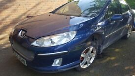 Peugeot 407 2.0 HDI Breaking For Parts Paint Code - KPLC