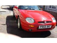 MGF 1.8 VVC in Red 1997 Fast reliable car.
