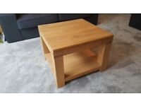 Solid Oak Coffee Table with Shelf As New.