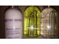 Brand new never used of opened Molton brown trio