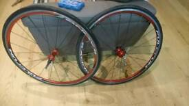 Price drop £50! Or swap for shimano wheelsFulcrum racing 7s road bike wheels