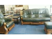 Stunning Vintage Sofa, Chair and Foot rest. Can deliver.