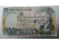 First Trust Bank £100 One Hundred Pound Banknote 1998 Very Rare