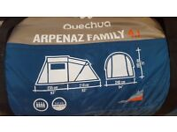 Tent - Large 4 man Arpenaz Tent Like New