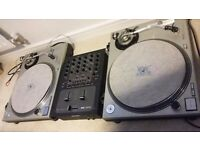2 Technics Sl1200 mk2+Rane TTM57SL+VESTAX PMC07 PRO+ 320 RAP /hip hop RECords