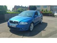 2007 07 SKODA OCTAVIA VRS 2.0 TDI blue