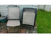 6 garden chairs