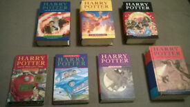 Harry Potter Complete Bookset ~ 4/7 First Editions ~ 1/7 Second Print ~ Bloomsbury
