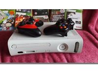 X box 360 with 15 games and 2 controllers