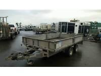 ifor willams lm126g 3500kg 12ftx6.6ft dropside trailer no vat