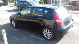 Hyundai i30 Comfort 1.4 Petrol, Blue Motion, Black. Full year MOT