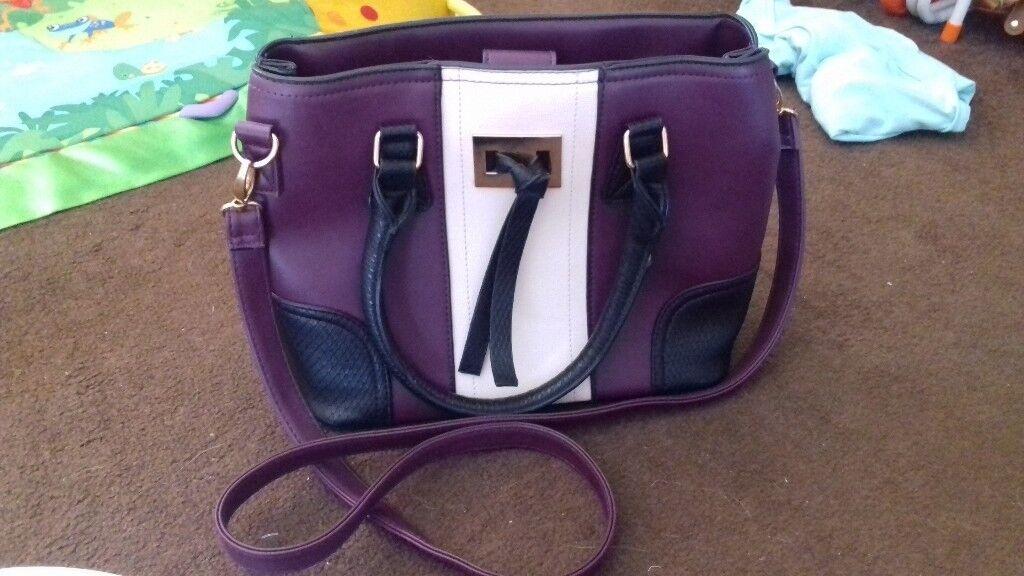 Deep Purple Handbag Elbow Shoulder Bag