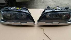 E46 Face-lift Headlights with wash-pumps