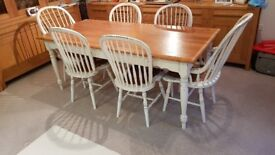 Laura Ashley Bramley dining table with six chairs