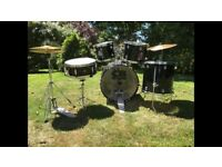 CB drum kit with a variety of sticks, sound dampeners and drumming books included