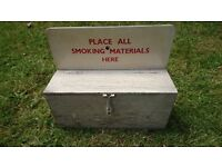 Vintage MOD Post WW2 Prohibited Smoking Items Wall Mounted Storage Box