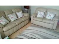 Leather sofas/couches