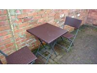 Garden Foldable Table + 2 chairs