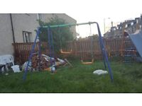 Child swing outdoor play set