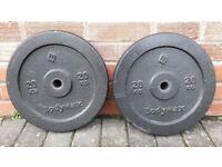 20KG BODYMAX CAST IRON OR TRI GRIP WEIGHT PLATES