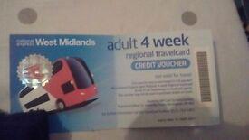 4 week west midland travel voucher in date
