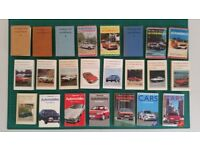 Observer Automobile Books from 1955 ist Edition to 1992