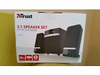 "Speaker Set ""Trust"". Not used, brand new, without unpacked!!"