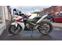 CBR Honda 125 Tri colour White