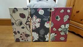3x matching wall prints
