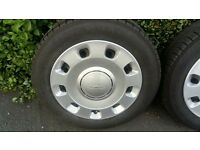 WHEELS AND TYRES (x4) FOR FIAT 500 OR FORD KA 175 / 65 R14