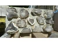 Concrete flint blocks