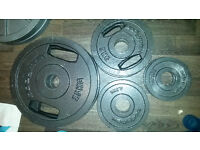 Olympic weights plates with handles. 47.5kg