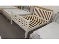 Madison Curved Surf White Double Bed (BED ONLY) Can Deliver