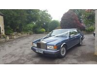 Wedding car chauffeur driven rolls royce classic, special occasions,treats, anniversary, hire.